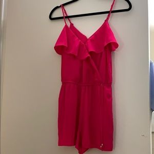 American eagle hot pink romper